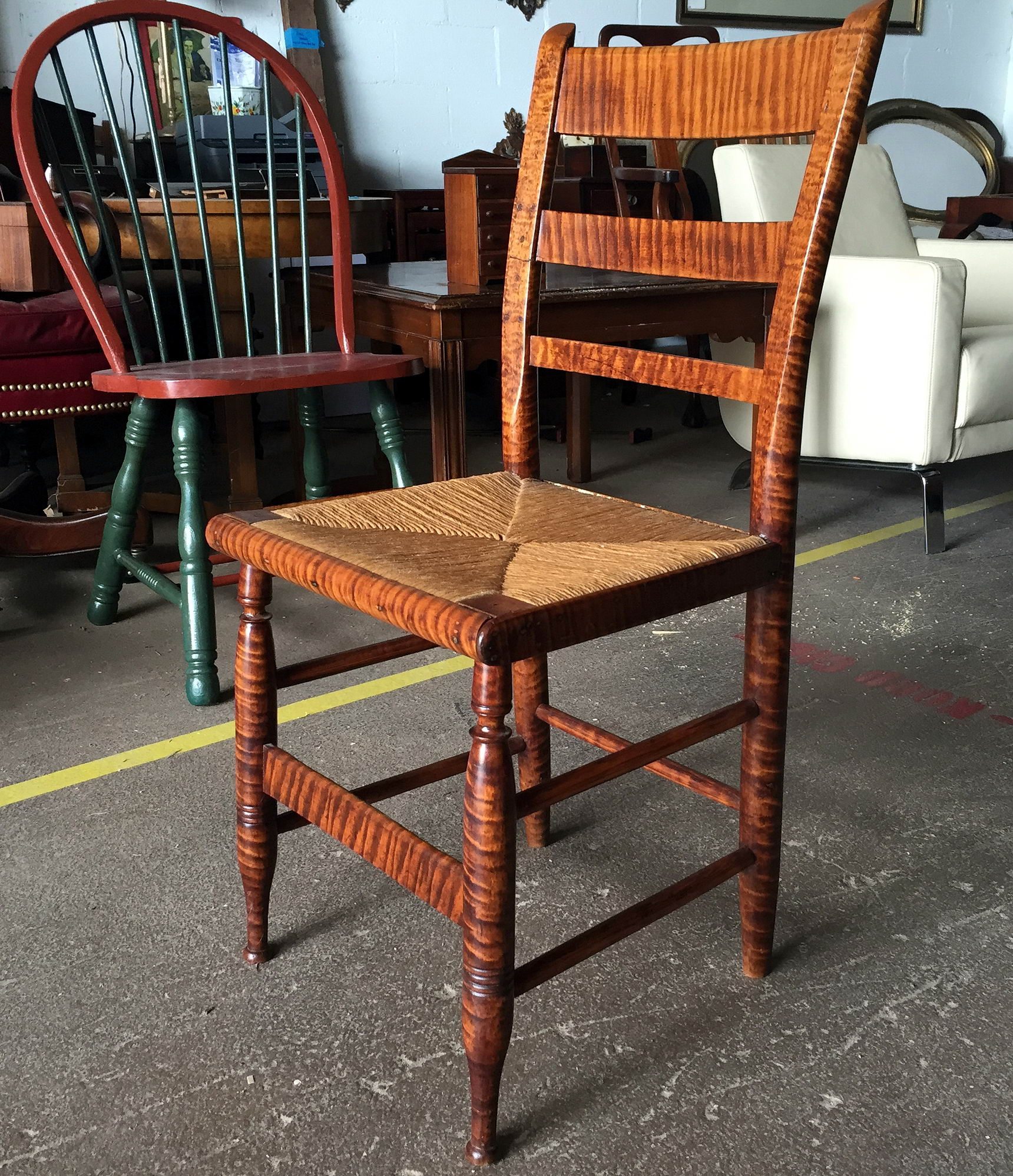 American Tiger Maple Chair c 1800