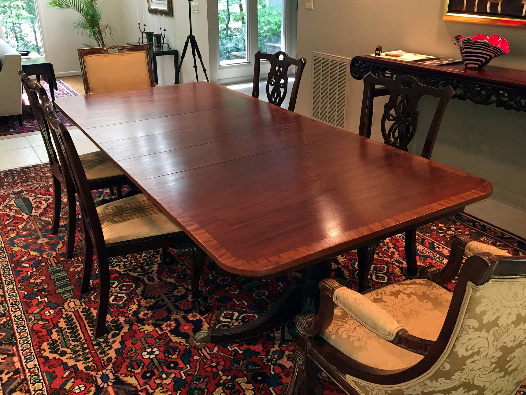 Duncan Phyfe Style Dining Table Brutal Vintage
